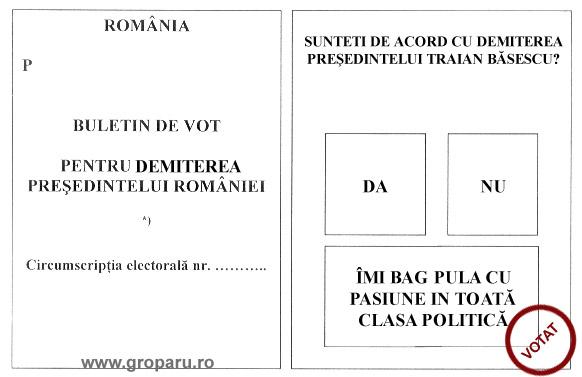 httpwww.doingtheartwork.com www.groparu.ro blog romanesc romanian blog referendum 2007 basescu